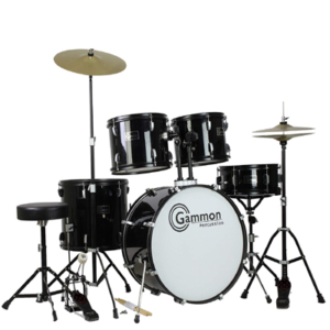 Gammon Percussion Full Size Complete Adult 5-Piece Drum Set