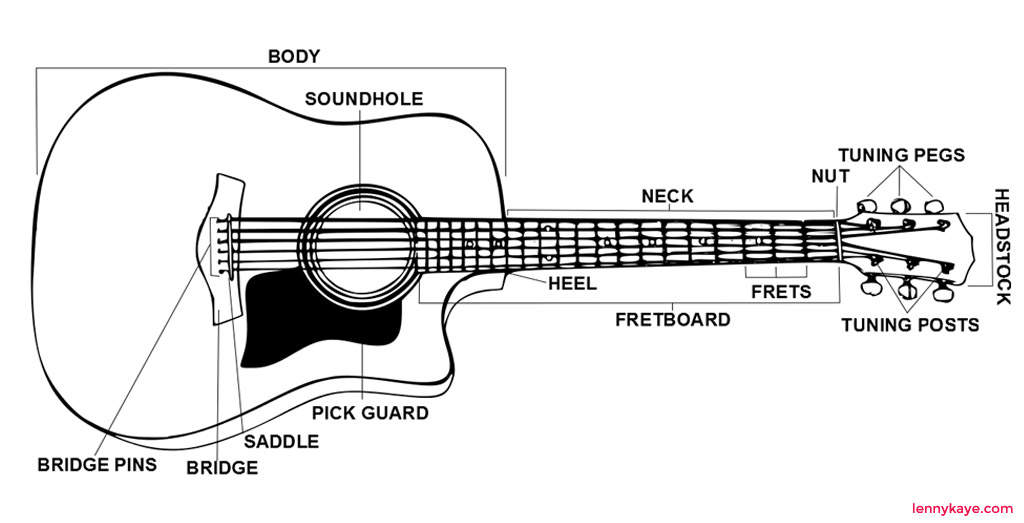 classic nylon string guitar anatomy