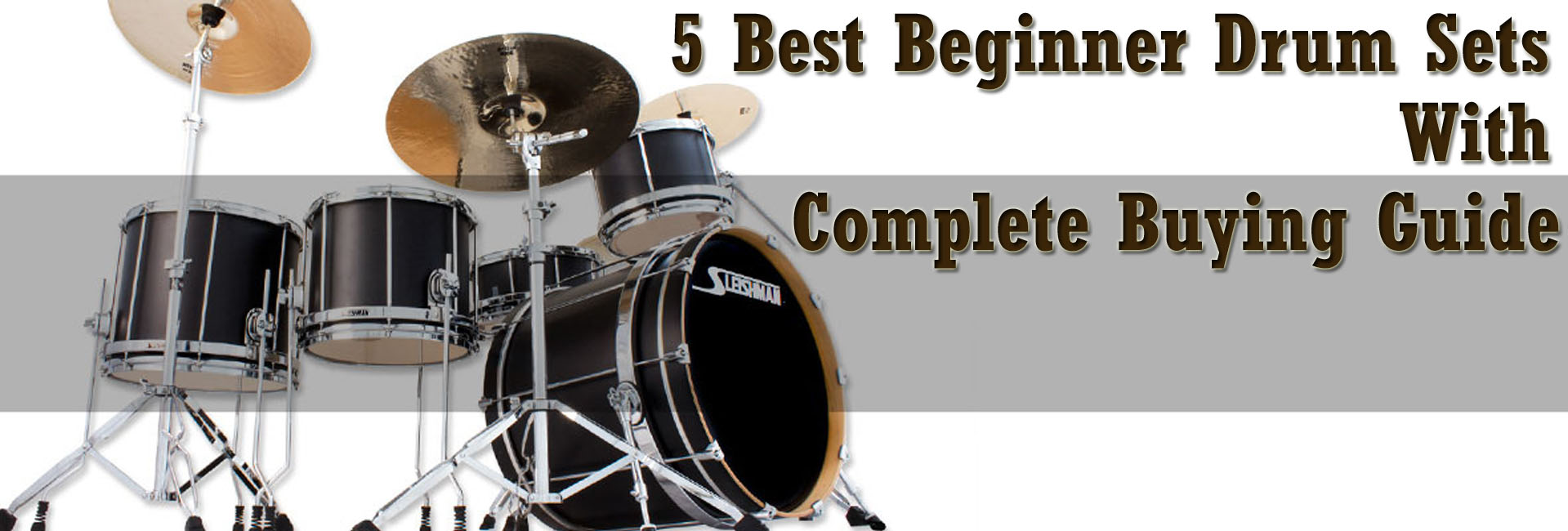 5 Best Beginner Drum Sets with Complete Buying Guide