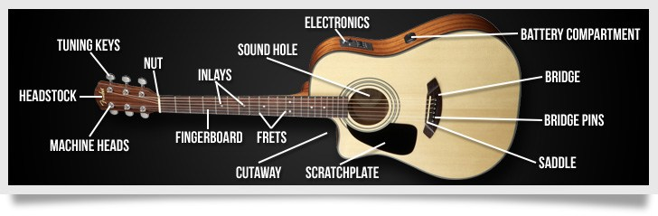 electric acoustic guitar anatomy