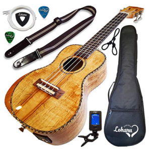 Lohanu Spalted Maple Concert Ukulele Under $200